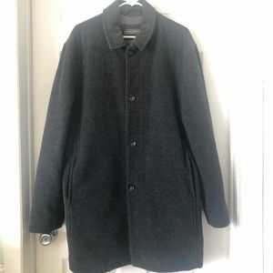 Banana Republic Wool Blend Pea Coat Mens Gray